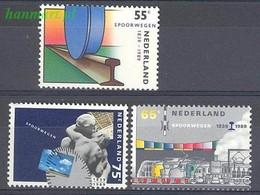 Netherlands 1989 Mi 1366-1368 MNH ( ZE3 NTH1366-1368 ) - Treni