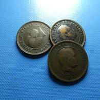 Portugal 3 Coins 5 Reis 1892 - Monnaies & Billets