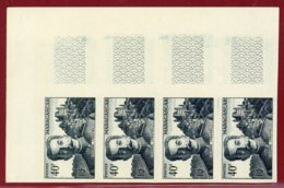 Malagasy Rep 1955 #291, Color Proof Stripe Of 4, Colonel Lyautey & Royal Palace - Madagascar (1960-...)