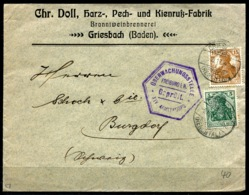 40999.02) DEUTSCHES REICH Germania Brief Mit # 85 IIa + 100 A GEPRÜFT - Cartas
