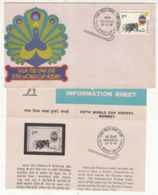 India FDC + Info., World Cup Hockey 1981, Sport - Rasenhockey