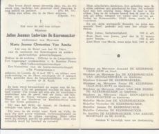 Julius Joannes Ludovicus De Keersmaecker (1871-1956) - Images Religieuses