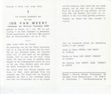 Jos Van Weert (1901-1982) - Images Religieuses