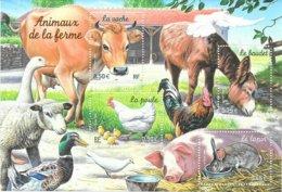 """2004  Bloc Neuf """" Les Animaux De La Ferme """" - Sheetlets"""