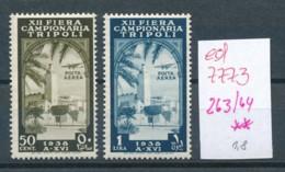 Italien- Tripoli  Nr. 263-4  * * ....(ed7773    ) Siehe Scan - Tripolitania