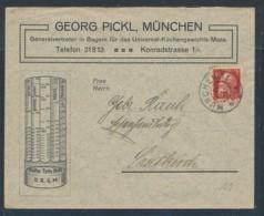 München Firmen  Beleg ....( Zu1889   ) Siehe Scan - Bavaria