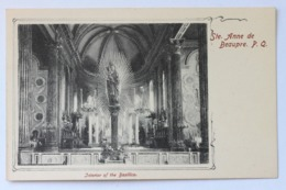Interior Of The Basilica, Ste Anne De Beaupre, P.Q. Quebec, Canada - Ste. Anne De Beaupré