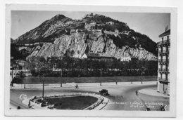 (RECTO / VERSO) GRENOBLE EN 1948 - N° 216 - LA PLACE DE LA BASTILLE ET LE FORT RABOT - BEAU CACHET - FORMAT CPA VOYAGEE - Grenoble