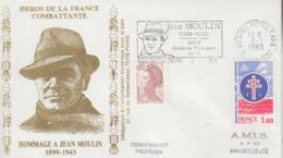 Enveloppe   FRANCE   Hommage  à   JEAN   MOULIN    NICE   1983 - Guerre Mondiale (Seconde)