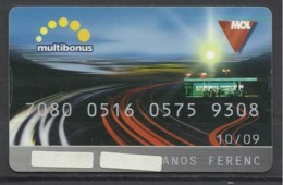 """Romania,"""" MOL"""", Fuel Card, Made By Multicard, 2009. - Gift Cards"""