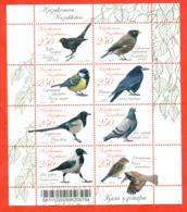 Kazakhstan 2011.Souvenir Sheet. City Birds. - Kazakhstan