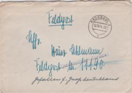 German Feldpost WW2: Gefallen Für Grossdeutschland In The Kurland Pocket/Kessel - KIA, Unzustellbar - Zurück Was To - Militaria