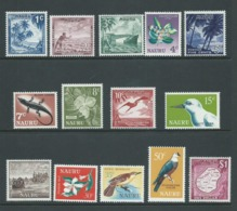 Nauru 1966 Definitive Set Of 14 MNH - Nauru