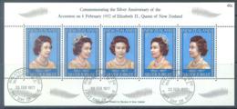 NEW ZEALAND - USED/OBLIT. - 1977 - SILVER ANNIVERSARY ELISABETH II CORONATION - Yv Bloc 40  - Lot 20572 - Blocs-feuillets