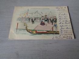 Carte ( 479 ) Fantaisie  Fantasie  Thème : Politique  Politiek  Les Souverains à L' Expostion à Paris  1900 - Evènements