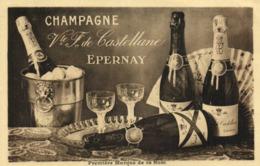 PUB  CHAMPAGNE  Vicomte F De Castellane Epernay RV - Publicité