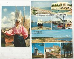 Cp ,85 , VENDEE ,les Sables D'Olonne ,Sablaises , île De Noirmoutier ,l'Epine , LOT DE 3 CARTES POSTALES - Non Classés