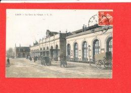 14 CAEN Cpa Petite Animation La Gare De L ' Ouest        Edit L D - Caen