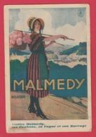 Malmedy - Carte Publicitaire Et Touristique ... Paysanne - Visitez Malmedy .... ( Voir Verso ) - Malmedy