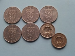 Lot Coins NORGE ( 5 Kroner > 2x 1977 / 1981 / 1983 / 1985 - 10 Kroner 1987 & 1991 ) Total 45 NORSKE Kroner ! - Noruega