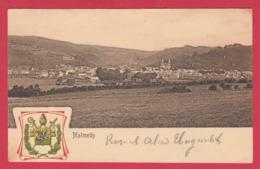 Malmedy - Superbe Panorama ... De La Ville-Armoirie De La Ville -1907( Voir Verso,cachet Spécial,oblitération Allemande) - Malmedy