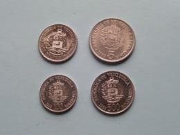 Lot Coins VENEZUELA ( 5 Bolivares 1989 - 2 Bolivares 1990 - 500 Bolivares 1998 & 100 Bolivares 1998 ) > See Photo ! - Venezuela