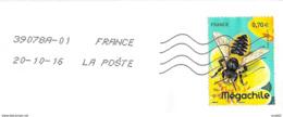 France Abeille Solitaire Mégachille Oblitérée Abeilles - Bienen