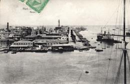 Thematiques Egypte Port Saïd Panorama Timbré Cachet 10 12 1909 Cachet Marseille A Yokohama - Puerto Saíd
