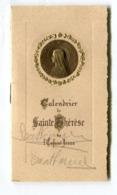 Calendrier 1937  Ste Thérèse De L'enfant Jésus  Format : 63*112 Mm  A    VOIR  !!! - Calendriers