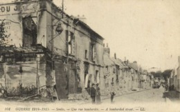 Militaria Guerre 1914 1915 Senlis Une Rue Bombardée RV - Senlis