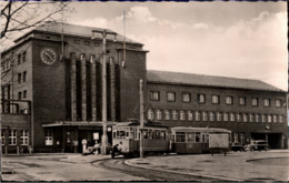 ! DDR Ansichtskarte Zwickau, Hauptbahnhof, Straßenbahn, Tram, 1962 - Zwickau