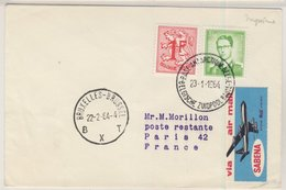 Belgien - 3,50 Fr. König Baudouin, Lupo-Brief Base Antarctique De Belgique -  - Belgium