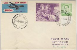 Belgien - 6 F. Tuberkulose U.a., Lupo-Brief Base Antarctique De Belgique -  - Belgium
