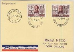 Belgien - 2x2 Fr. Jesuitenpater Berchmans, Lupo-Karte Base Roi Baudouin - Dour - Belgium