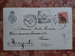 Madrid - Cartolina Spedita In Italia Nel 1900 + Spese Postali - Madrid