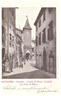 ARCIDOSSO  (GROSSETO) -VEDUTA DI PIAZZA GARIBALDI GIA PORTA DI MEZZO  CARTE ANIMEE -1906 - Italie