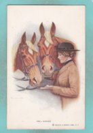Small Post Card Of Horses,Well Earned Sugar Lump,N80. - Cavalli