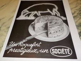 ANCIENNE PUBLICITE ROQUEFORT SOCIETE 1936 - Posters