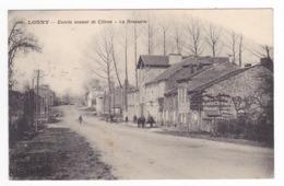 08 LONNY Vers Charleville Entrée Venant De Cliron La Brasserie VOIR ZOOM Attelage Gamin Avec Trotinette En 1928 VOIR DOS - Charleville
