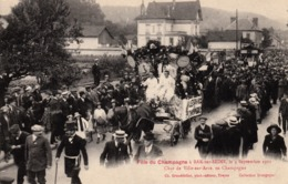 Thematiques 10 Aube Bar Sur Seine Fête Du Champagne 1921 Char De Ville Sur Arce - Bar-sur-Seine