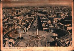 7378) CARTOLINA DI ROMA-PANORAMA DI SAN PIETRO-VIAGGIATA - San Pietro
