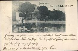 Cp Annafeld Westpreußen, Teichpartie, Enten, Reiter - Westpreussen