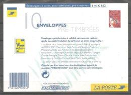 PSEUDO-ENTIER  LUQUET Légende LA POSTE - Carton De Présentation De 10 Enveloppes Pré-affranchies N°3083 E1. - Biglietto Postale