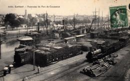 Thematiques 56 Morbihan Lorient Ponorama Panorama Du Port De Commerce Timbré Cachet 01 07 1921 - Lorient