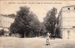Thematiques 17 Charente Maritime Saintes Cours National Vue Prise à L'Angle Des Cours Lemercier Et Reverseaux - Saintes