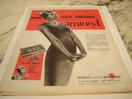 ANCIENNE  PUBLICITE JEUNE SVELTE SEDUISANTE  AMINCYL 1960 - Posters