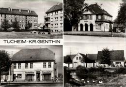 ! DDR Ansichtskarte Tucheim Genthin, Bahnhof, Gaststätte - Genthin