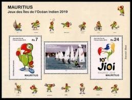 Mauritius (2019)  - Block -  /  Sports - Basketball - Rugby - Soccer - Volleyball - Handball - Bikes - Boxing - Sailing - Rugby