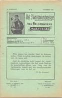 Tijdschrift - Devotie , Godsdienst - Het St Antoniusboekje Van Balgerhoeke - October 1954 - Non Classés