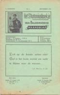 Tijdschrift - Devotie , Godsdienst - Het St Antoniusboekje Van Balgerhoeke - September 1954 - Non Classés